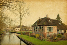 Canal in Giethoorn Stock Photo