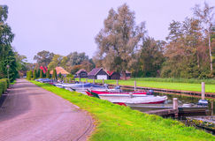 Canal of Giethoorn royalty free stock image