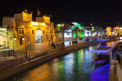 Canal at the Global Village in Dubai Royalty Free Stock Image