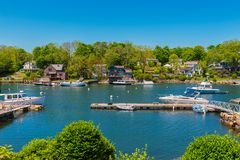 Canal in Gloucester Massachusetts USA royalty free stock photo