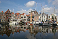 Canal in Goes Stock Image