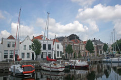 Canal in Goes Royalty Free Stock Images