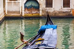 Canal with gondola in Venice, Italy. Tourism concept in Europe. Royalty Free Stock Photos