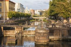 Canal in Gothenburg. Gothenburg, Vasstergotland and Bohuslan, Sweden stock image