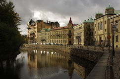 Canal, Gothenburg Suède Photos stock