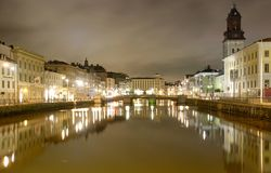 Gothenburg, Sweden by night royalty free stock image