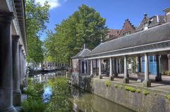 Canal in Gouda, Holland Stock Photography