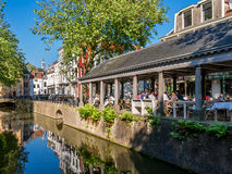 Canal in Gouda, Netherlands Royalty Free Stock Images