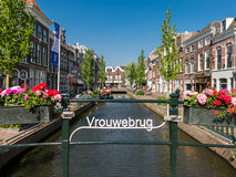 Canal in Gouda, Netherlands Royalty Free Stock Photo