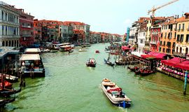 Canal grand à Venise images stock