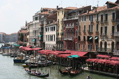 Canal grand à Venise, Italie Images libres de droits