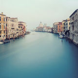 Canal grand à Venise - vue du brid d'Acedemy Photos libres de droits