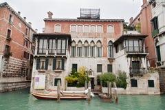 Canal grand de manoir de Venise Photos libres de droits