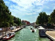 Canal grand de Venise Images libres de droits