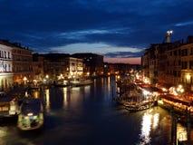 Canal grand de Venise, Italie Images libres de droits