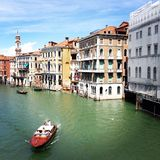 CANAL GRAND - VENICE ITALY Royalty Free Stock Photos
