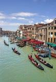 Canal grand à Venise Photos stock