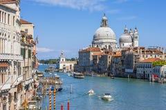 Canal Grande with Basilica di Santa Maria della Salute Royalty Free Stock Image
