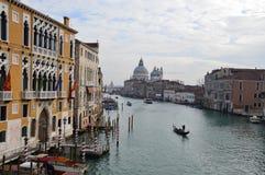 Canal Grande and Basilica di Santa Maria della Salute Stock Images