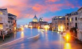 Canal Grande with Basilica di Santa Maria della Salute in Venice Royalty Free Stock Photos