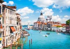 Canal Grande with Basilica di Santa Maria della Salute in Venice Royalty Free Stock Image
