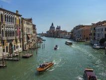 Canal Grande and Basilica di Santa Maria della Salute in Venice, Italy stock images