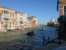 Canal Grande. Beautiful day in wonderful Venice - Italy Stock Images