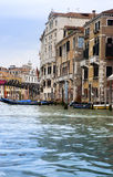 Canal Grande with boats, Venice, Italy Royalty Free Stock Photography