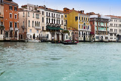 Canal Grande with boats, Venice, Italy Royalty Free Stock Photo