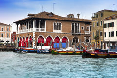 Canal Grande with boats, Venice, Italy Royalty Free Stock Images