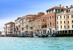 Canal Grande with boats, Venice, Italy Stock Photography