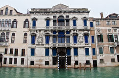 Canal grande da mansão de Veneza Fotografia de Stock Royalty Free
