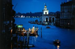 Canal Grande at dusk, Venice. Canal Grande at dusk in Venice, the most beautiful town in the world. Italy stock image