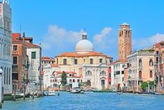 Canal grande em Veneza, italy Imagem de Stock