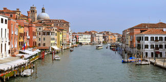 Canal grande em Veneza Italy Imagens de Stock