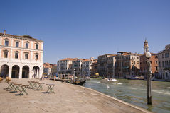 Canal grande em Veneza, Italy Imagens de Stock