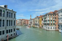Canal grande em Veneza foto de stock