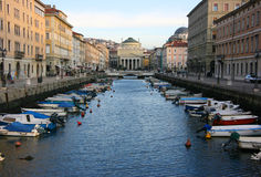 Canal grande en Trieste foto de archivo libre de regalías