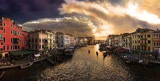 Canal grande en Venecia Imágenes de archivo libres de regalías