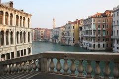 Canal grande en Venecia Italia Fotografía de archivo libre de regalías