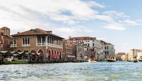 Canal grande en Venecia, Italia fotografía de archivo libre de regalías