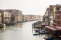 Canal grande en Venecia, Italia Fotos de archivo libres de regalías