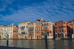 Canal Grande with fleecy clouds Royalty Free Stock Photo