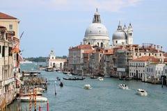 Canal Grande and Santa Maria della Salute church in Venice, Italy Royalty Free Stock Photography