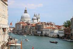 Canal Grande and Santa Maria della Salute church in Venice, Italy Stock Photography