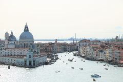 Canal Grande and Santa Maria della Salute church in Venice, Italy Stock Photos
