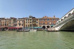 Canal Grande and Ponte di Rialto - Venice, Italy Stock Image