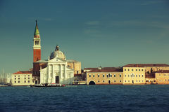 Canal Grande with San Giorgio Maggiore church Royalty Free Stock Photo
