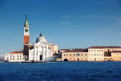 Canal Grande with San Giorgio Maggiore church Stock Photos