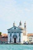 Canal Grande and Santa Maria del Rosario o dei Gesuati, Venice, Italy Stock Image
